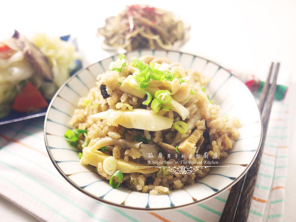 孤身廚房-日式綜合菇炊飯佐牛蒡絲2