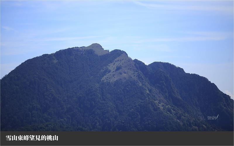 雪山東峰頂望見的桃山
