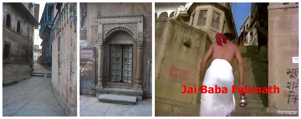 "Satyajit Ray Film ""Jai Baba Felenath"" shooting Location - Varanasi Ghat, Uttarpradesh, India"