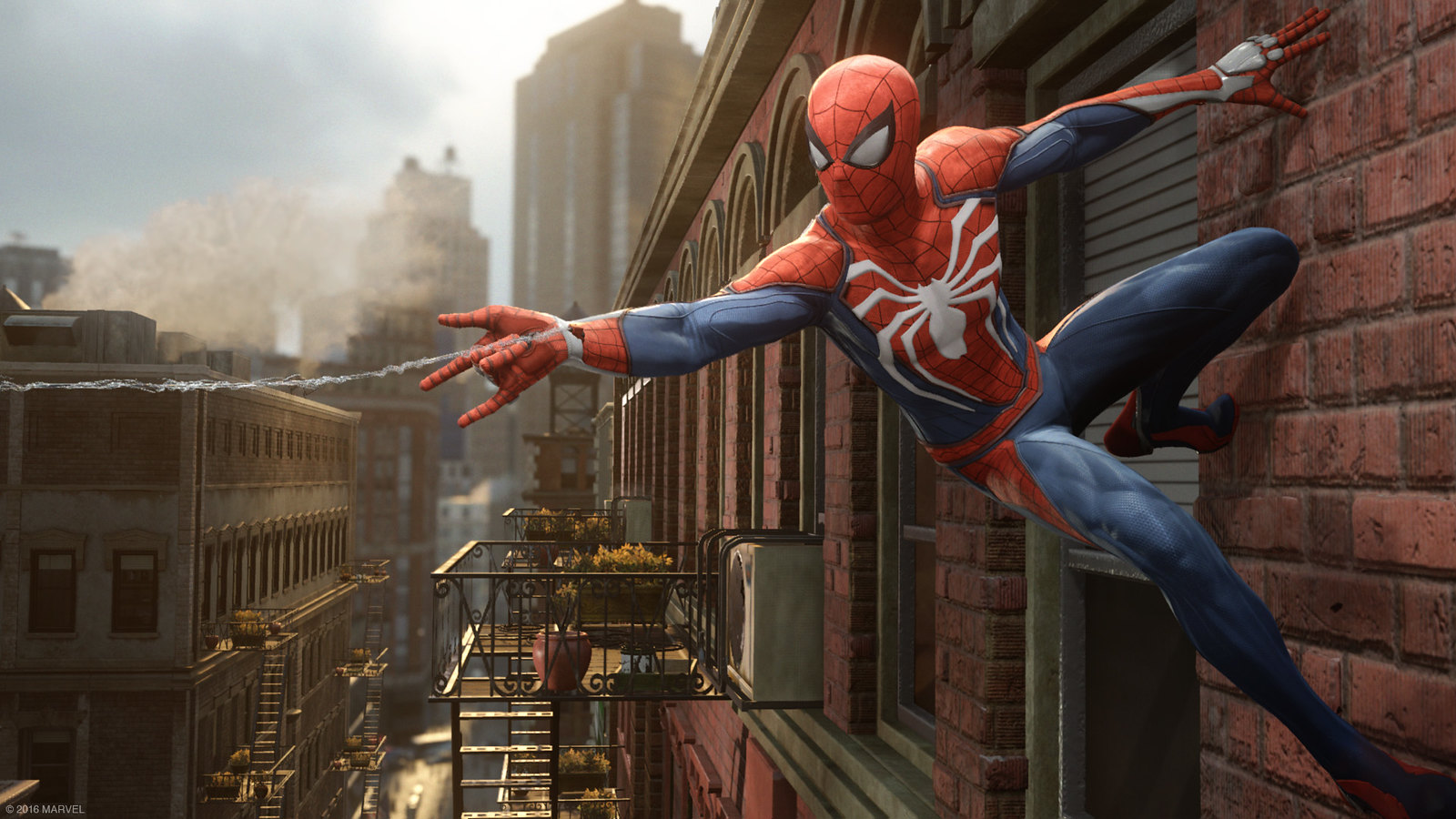 insomniac s new ps4 exclusive spider man game revealed. Black Bedroom Furniture Sets. Home Design Ideas