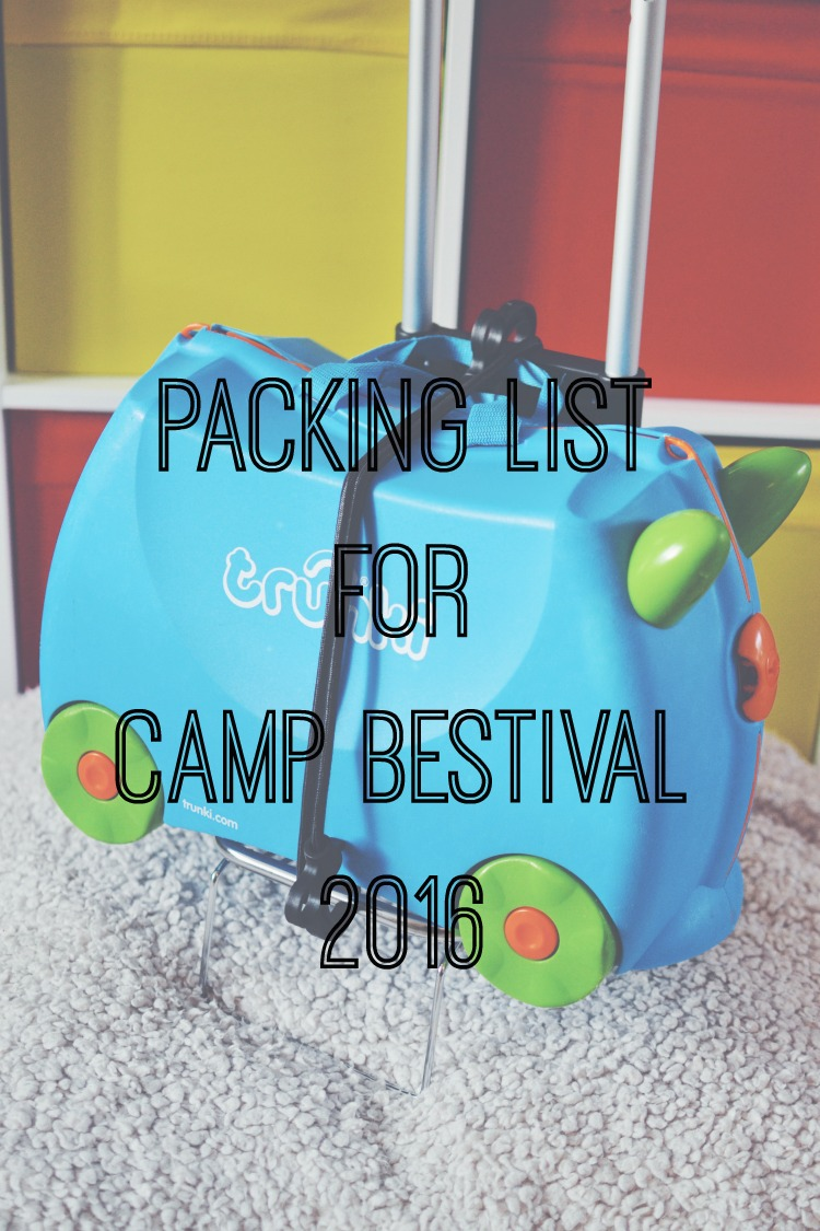 Packing List Camp Bestival