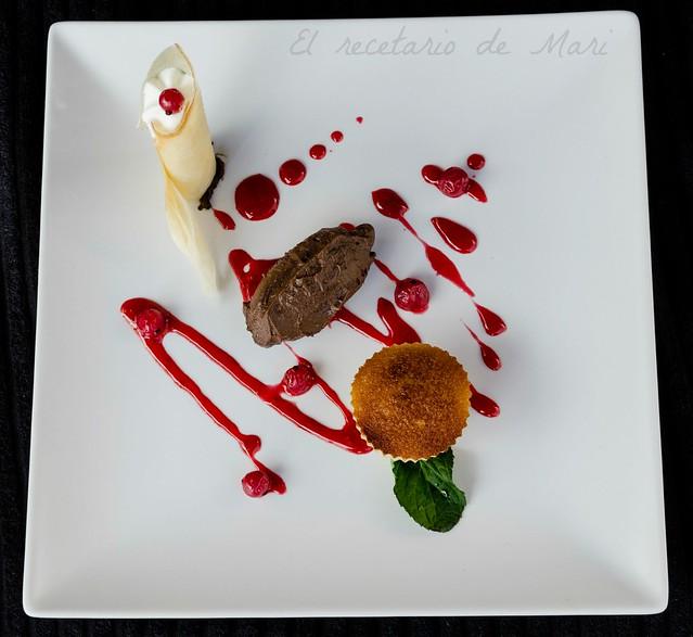 Cremoso de chocolate con crujiente de yogur (1)