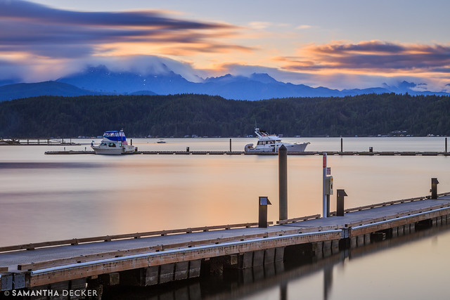 Sunset Over the Hood Canal