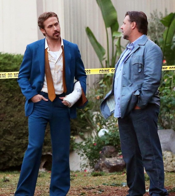 The Nice Guys - backstage 2 - Ryan Gosling and Russell Crowe