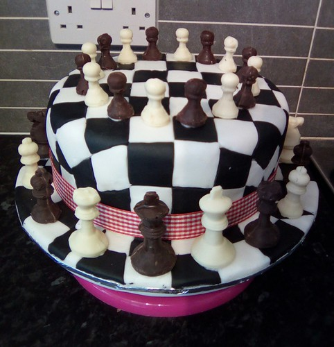 Miraculous Crafty Welsh Grandma Chess Inspired Birthday Cake July 2016 Funny Birthday Cards Online Overcheapnameinfo