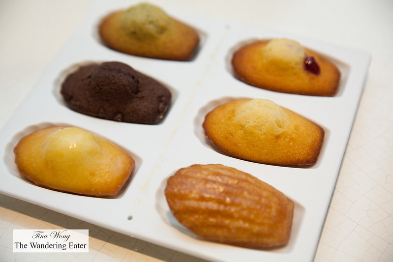 Six different flavors of madelines
