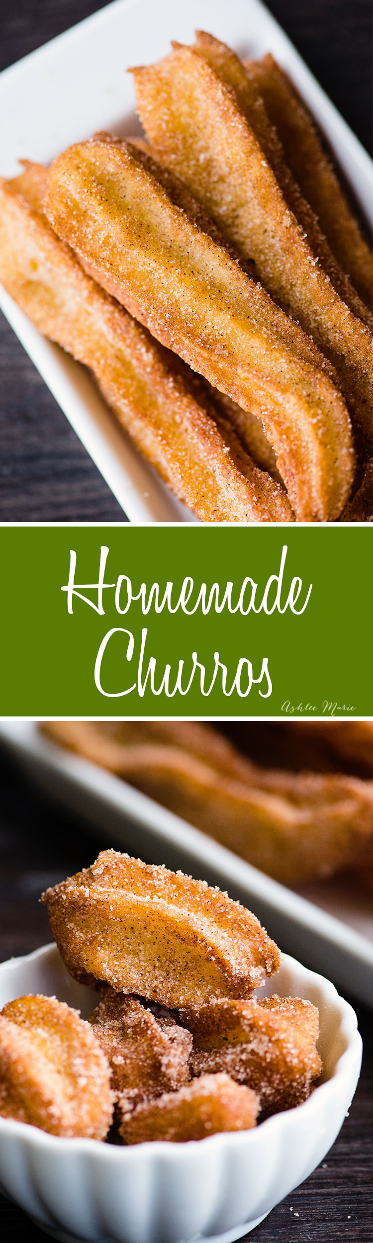 recipe and video tutorial for making fried churros with a pate a choux dough