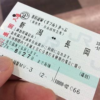 新幹線Wきっぷ、初利用。時間通りなら、片道だけ利用。 もう一枚、どこで使おうかな?!(苦笑)
