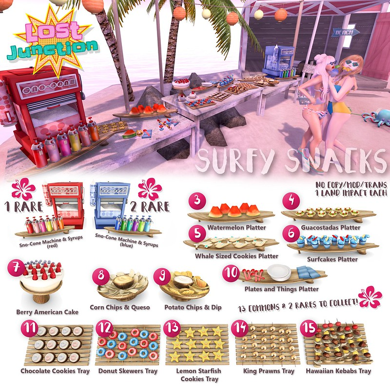 [LJ] Surfy Snacks Gacha Key