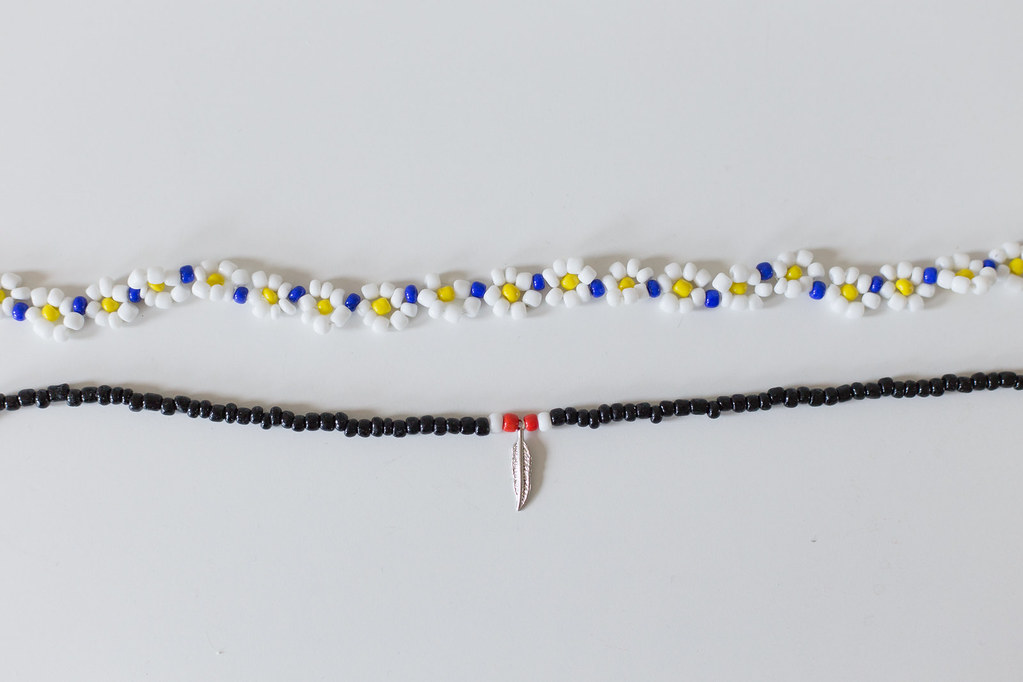 Beaded Dasiy Choker by Anna María