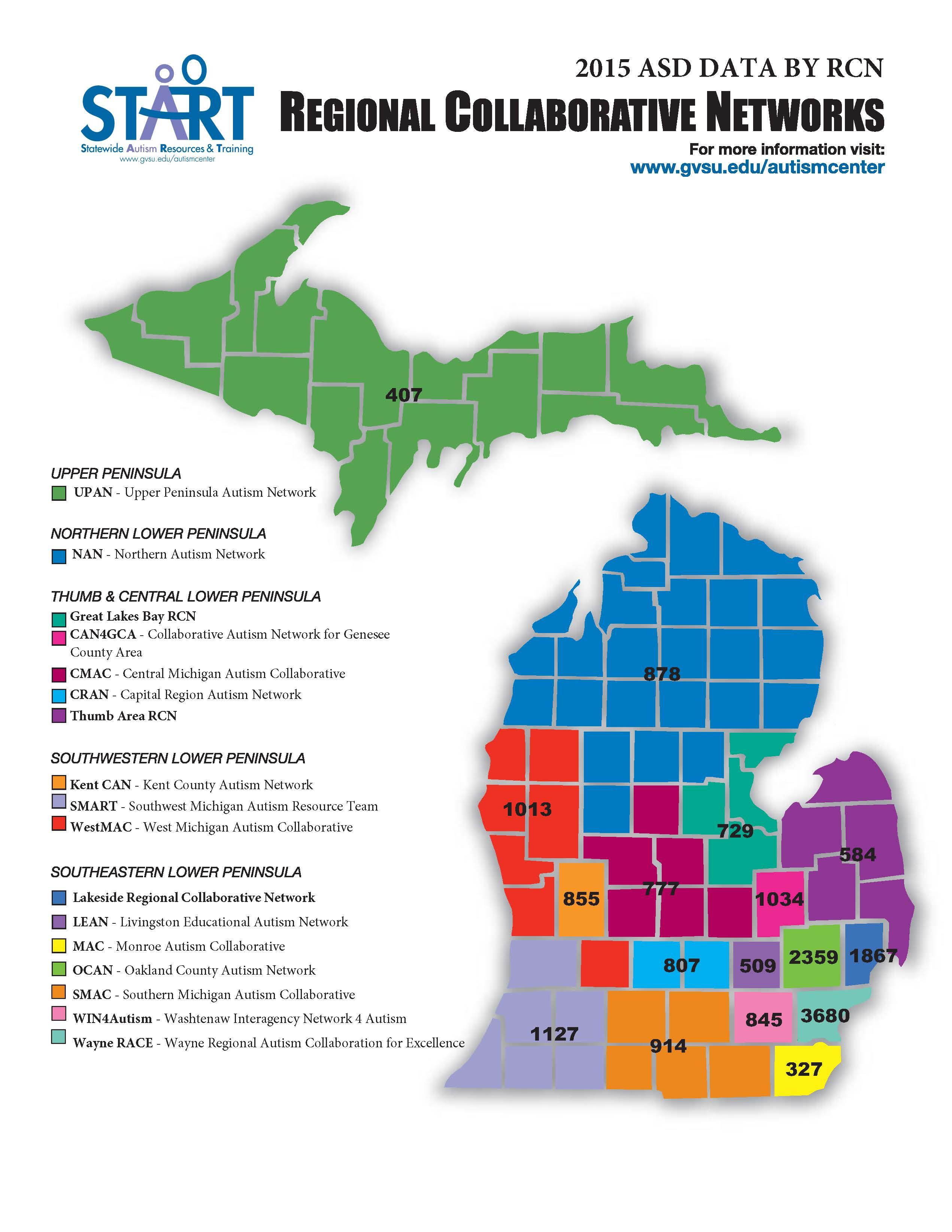 RCN Map - 2015 Breakdown of ASD Students