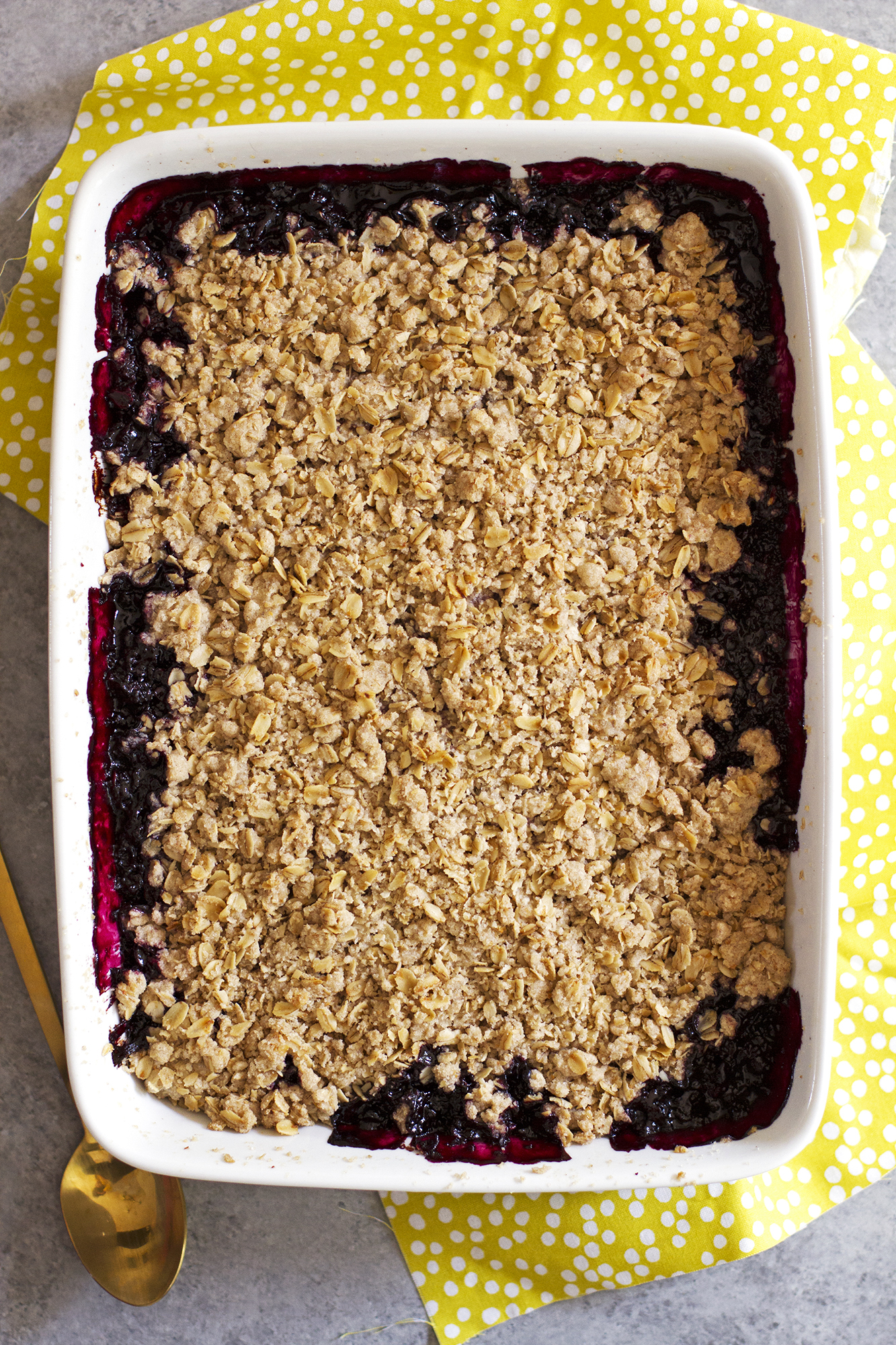 Dairy Free Fruit Crisp | girlversusdough.com @girlversusdough