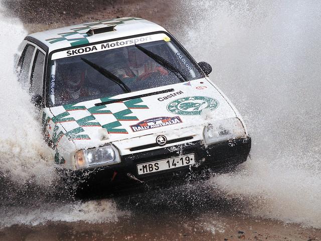 Skoda Favorit Rally на ралли Австралии. 1994 год