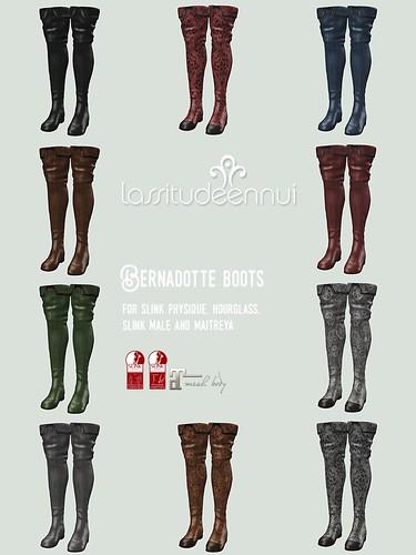 lassitude & ennui Bernadotte boots colorsheet