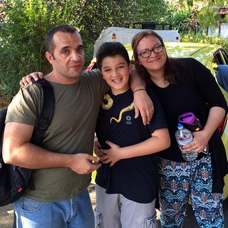 Walaa, Mai, and Yazan Temraz in San Jose, California, August 2016
