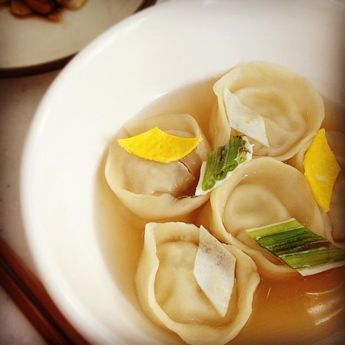 Clear Mandu(Korean-style dumplings) soup [만둣국] | by KFoodaddict