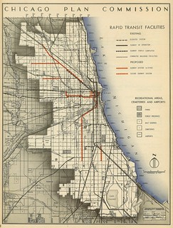 Chicago Plan Commission: Rapid Transit Facilities (1945) | by Eric Fischer