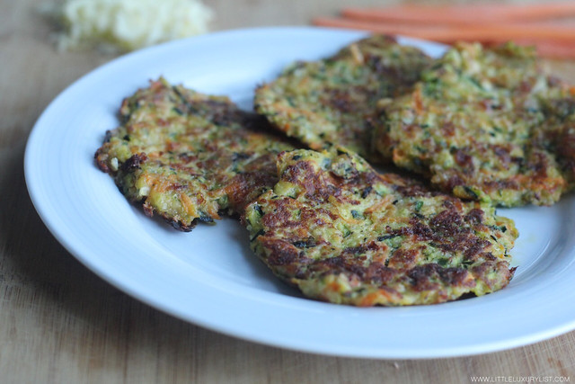 Gluten free Greek zucchini fritters group by little luxury list