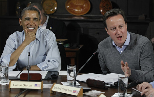 David Cameron and Barack Obama | by The Prime Minister's Office