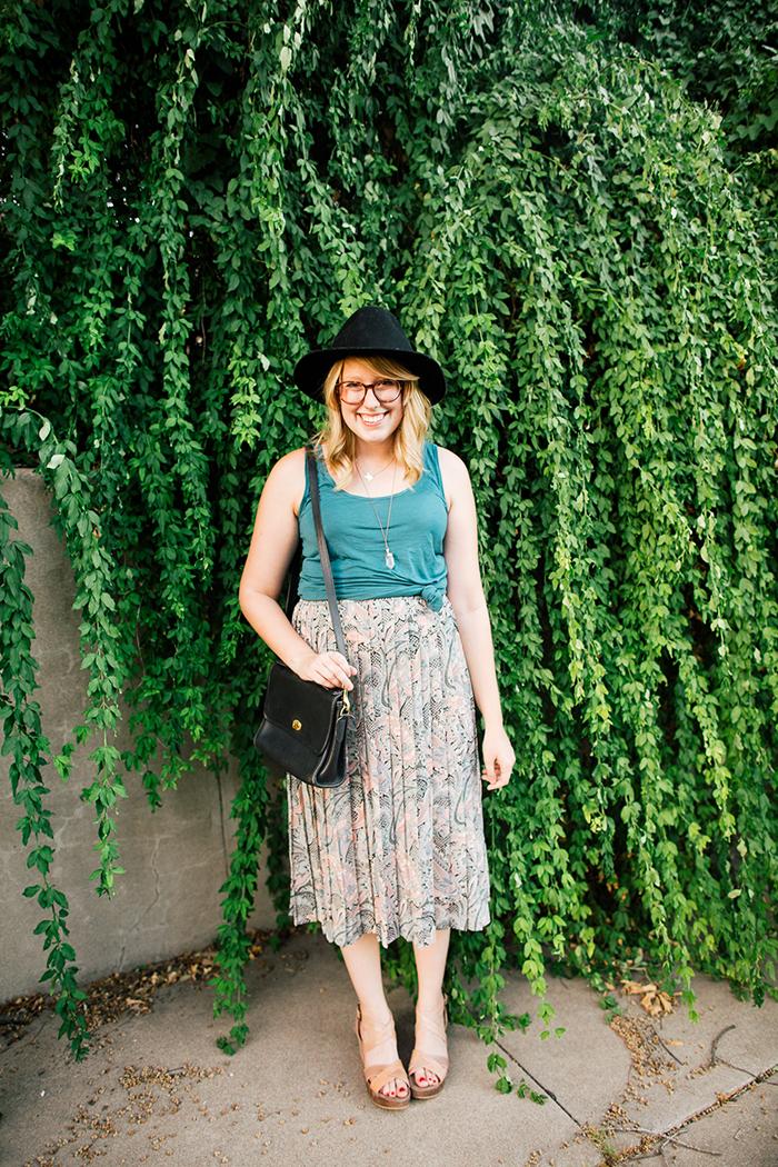 pieceology vintage midi skirt6