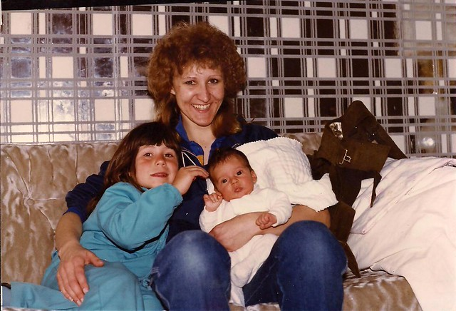 Kerry, Weiner, and me as a baby