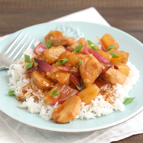 Sweet-and-Sour Stir-Fried Chicken with Pineapple and Red Onion | by Tracey's Culinary Adventures