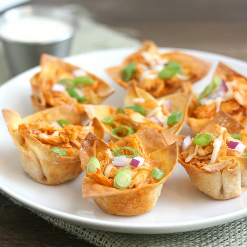 Buffalo Chicken Cups | by Tracey's Culinary Adventures