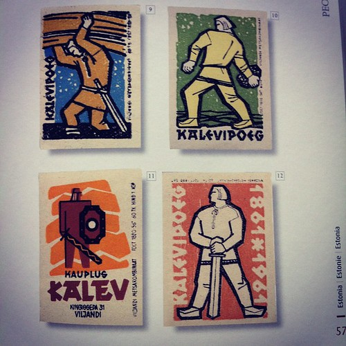 Pretty sweet Estonian matchbox illustrations from an epic poem: | by Portable City