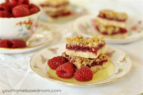 Raspberry Oatmeal Bars | by yourhomebasedmom