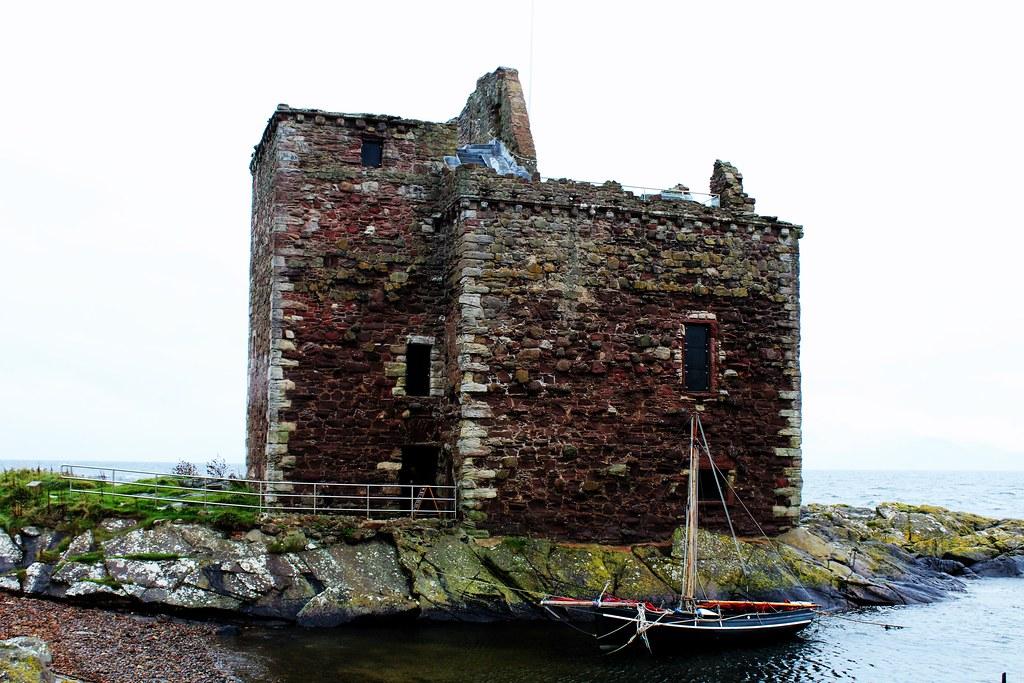 Portencross Castle, Ayrshire, Scotland.