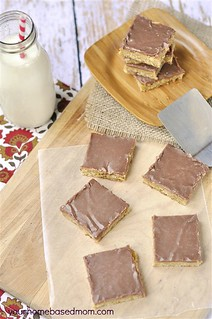 peanut butter chocolate bars | by yourhomebasedmom