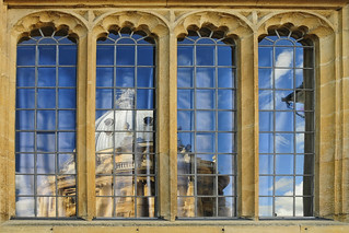UK - Oxford - Bodleian window reflections corrected | by Darrell Godliman
