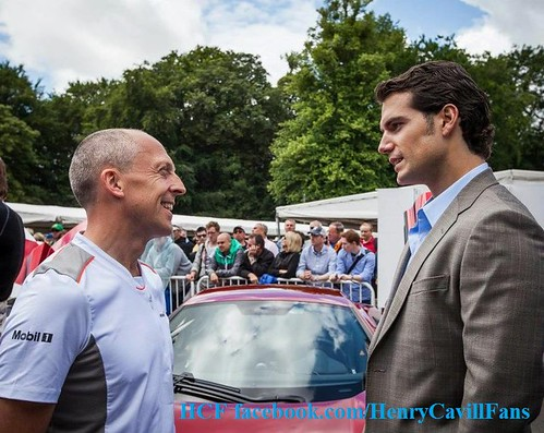 Henry Cavill at the Goodwood Festival of Speed, Young Guns Born to Win Theme, as Guest Passenger in the McLaren 12C, July 1st, 2012. | by Henry Cavill Fanpage