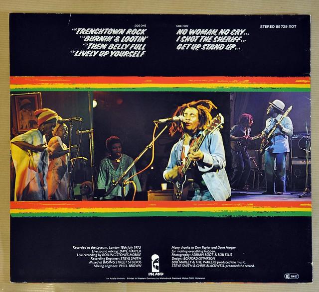 "BOB MARLEY & THE WAILERS WAILERS LIVE original 1975 12"" LP VINYL"
