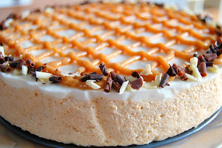 Nougat and greek yogurt mousse cake | by Alfriston Cottage