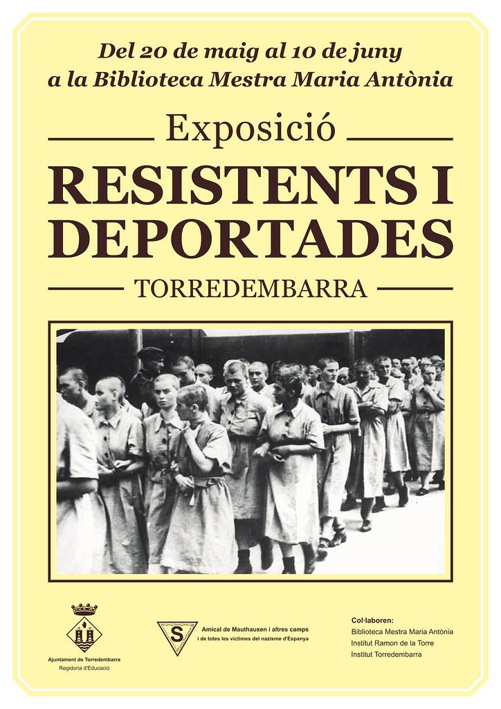 Cartell de l'acte Resistents i deportades. Inauguració de l'Exposició de l'Amical de Mauthausen (Torredembarra, 2016)