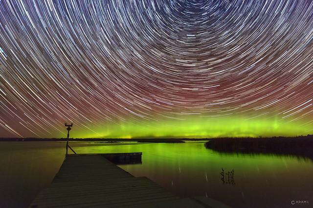 Camden Lake Star Trail + Aurora