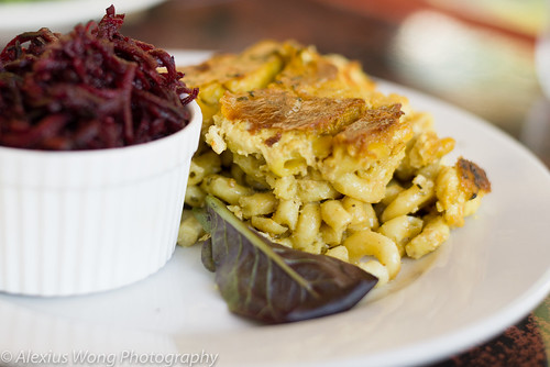 Vegan Macaroni and Cheese, Beet Salad