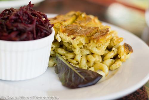 Vegan Macaroni and Cheese, Beet Salad
