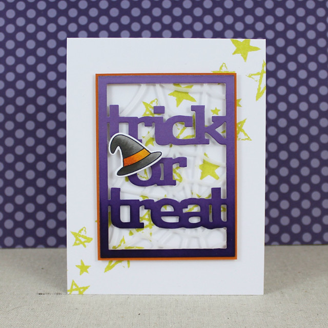 Trick Or Treat Text Block Card