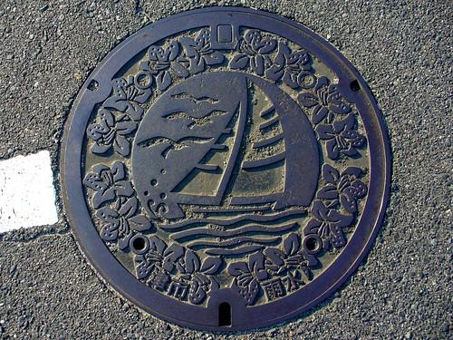 Tsu Mie, manhole cover (三重県津市のマンホール)