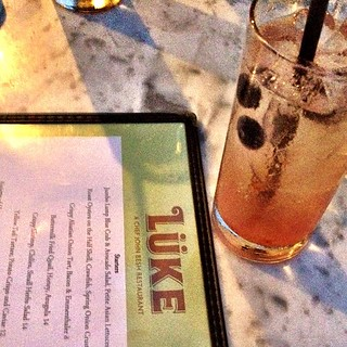 Blueberry cooler while drooling over the menu | by likevikings
