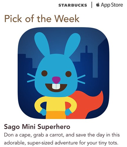 Starbucks iTunes Pick of the Week - Sago Mini Superhero