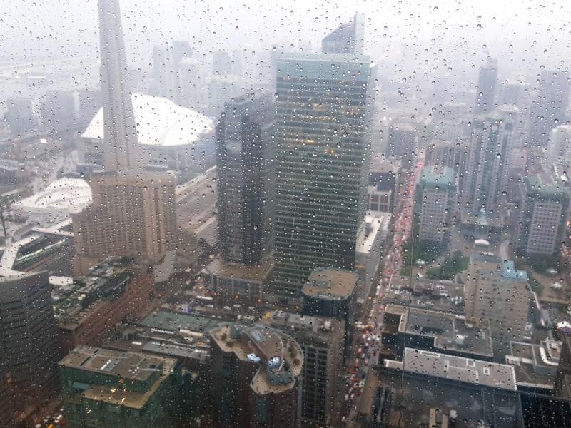 Toronto rainy view