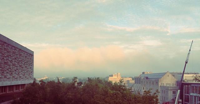 Fog Lifting #fog #clouds #skies #sky #indianaskies #iu #iubloomington #indianauniversity