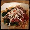 #Pasta #Wilted #ZucchiniLeaves #Homemade #CucinaDelloZio - w/Ricotta Salata