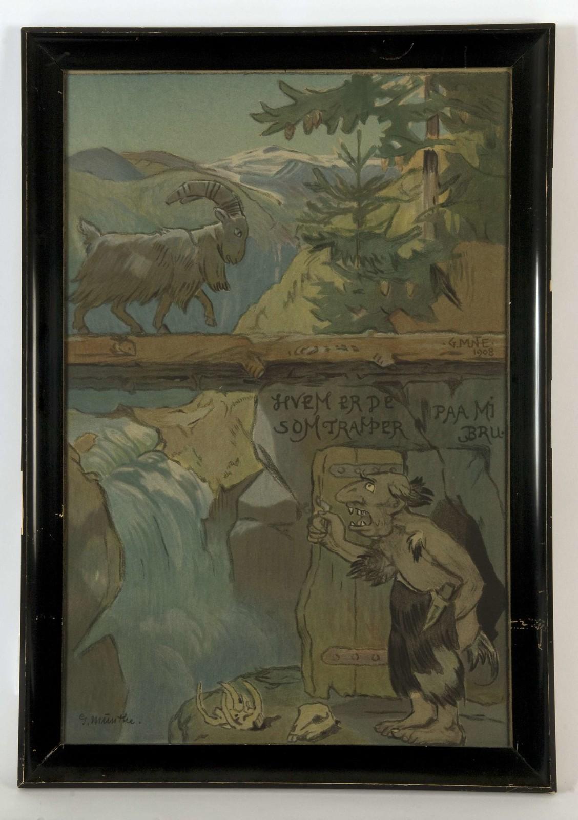 Gerhard Munthe - Billy Goats Gruff, 1908