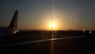Tramonto in aeroporto, Fiumicino