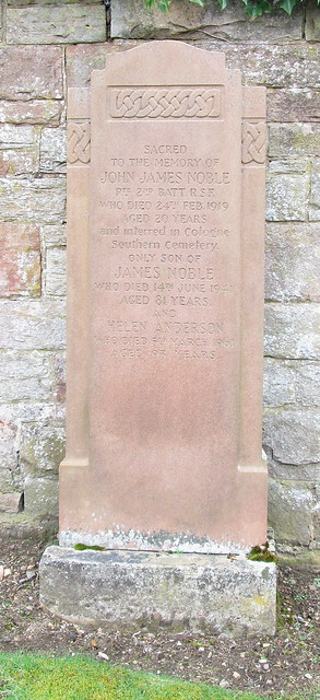 Roslin Cemetery, War Inscription 2