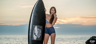 Nikon D800 E D800E Photos of Swimsuit Bikini Model @ Sunset! | by 45SURF Hero's Odyssey Mythology Landscapes & Godde
